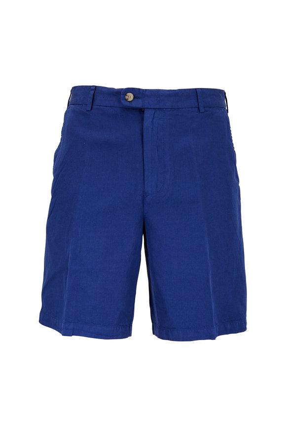 Peter Millar Seaside Atlantic Blue Linen Blend Shorts