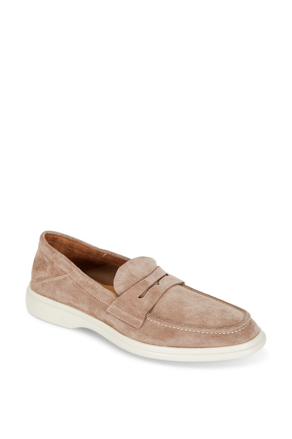 George Brown Foster Birch Suede Penny Loafer