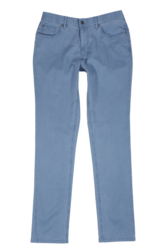 Hiltl Seth Blue Cotton & Linen Five-Pocket Pant