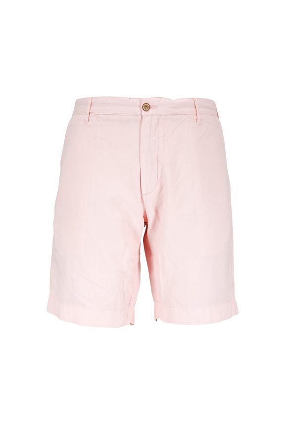 Faherty Brand Pink Linen & Cotton Shorts