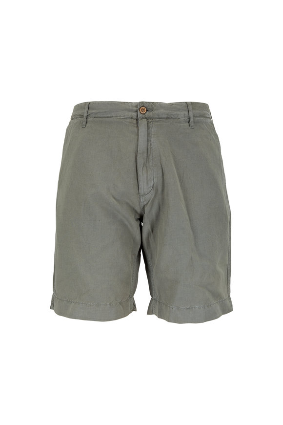 Faherty Brand Faded Olive Green Linen & Cotton Shorts