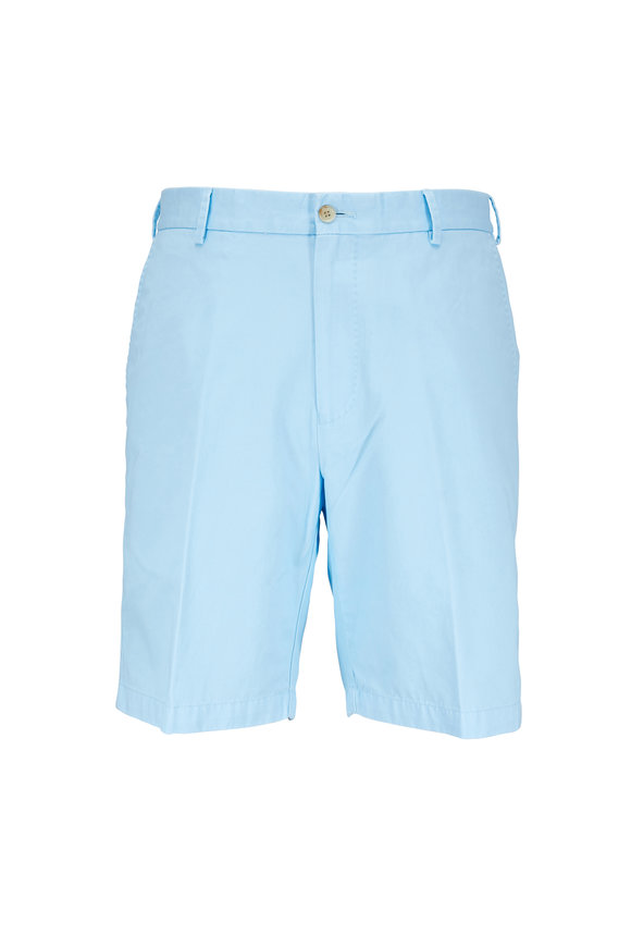 Peter Millar Winston Tar Heel Blue Washed Twill Shorts