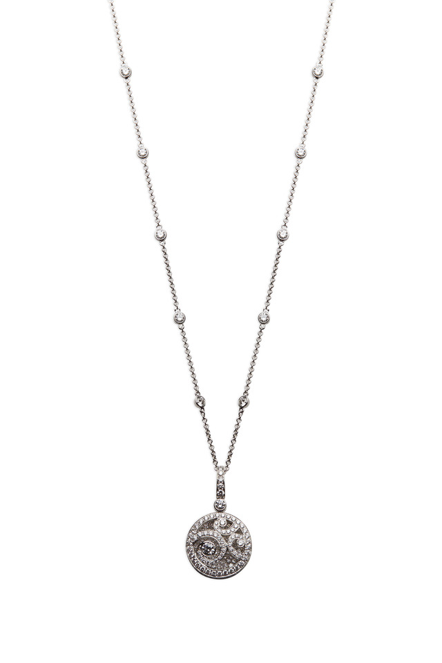 White Gold Diamond On Diamond Pendant