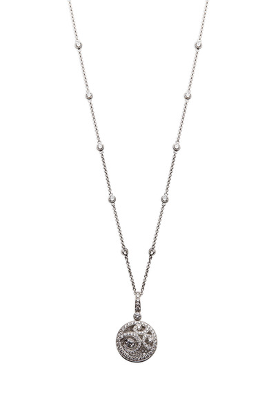Graff - White Gold Diamond On Diamond Pendant