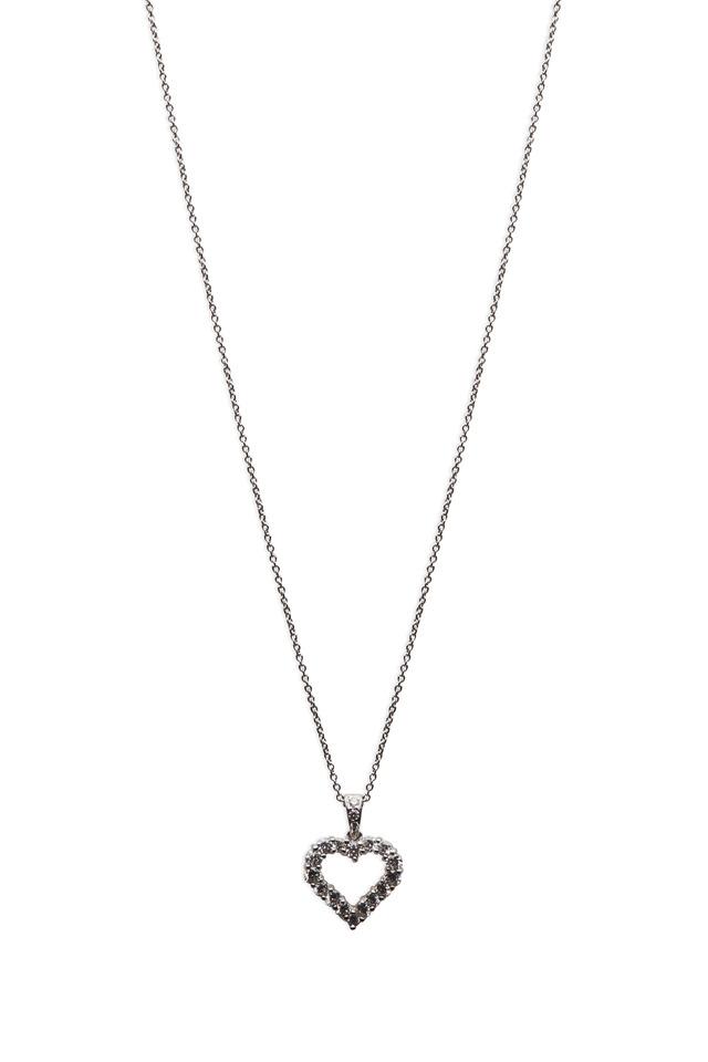 Gold Diamond Silhouette Heart Shape Pendant