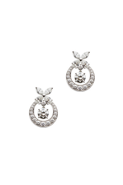 Graff - Platinum Round White Diamond Earrings