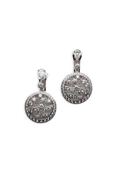 Graff - Platinum White Diamond On Diamond Earrings