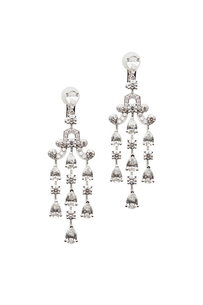 Graff - Platinum White Diamond Chandelier Earrings