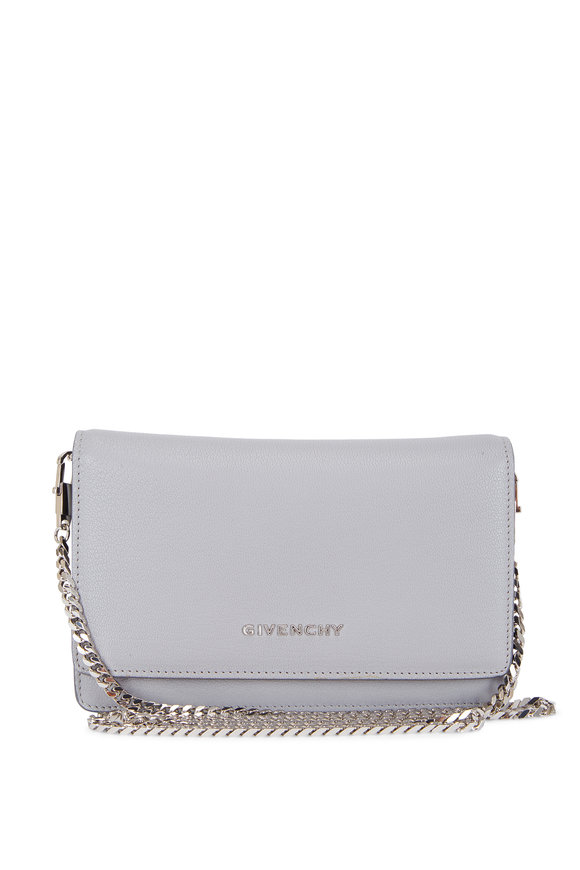 Givenchy Pearl Gray Leather Chain Wallet