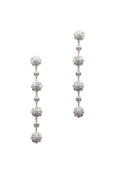 Graff - Platinum Diamond Long Dangle Earrings