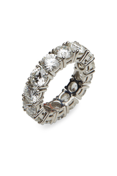 Graff - Platinum Round-Cut White Diamond Eternity Band