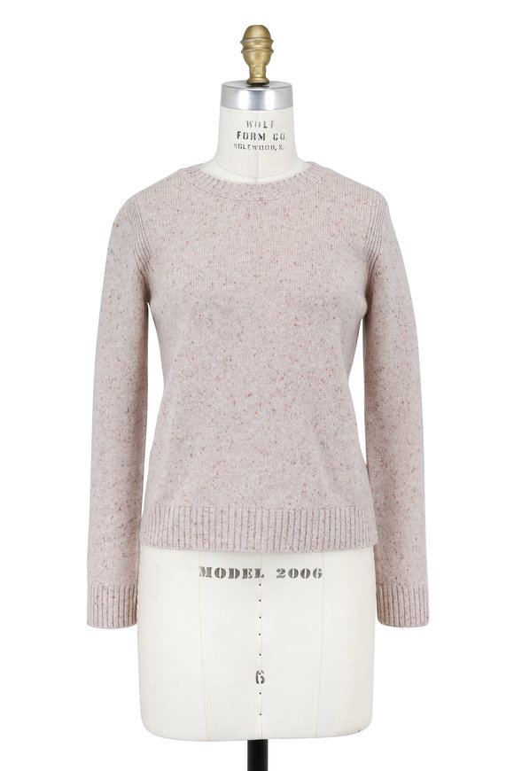 Rosetta Getty Oat Speckled Cashmere Crewneck Sweater