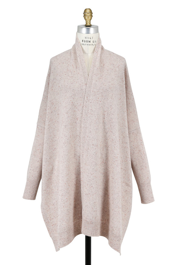 Rosetta Getty Oat Speckled Cashmere Open Side Cardigan
