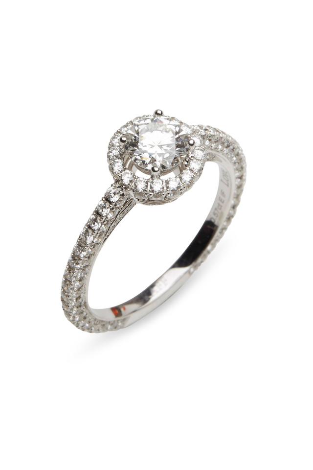 White Gold White Diamond Love Ring