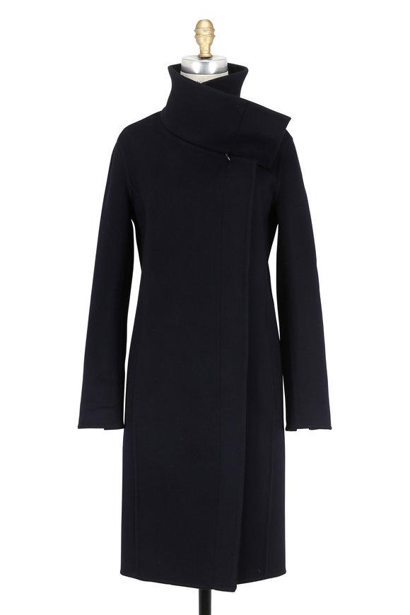 Akris Magnolia Midnight Double-Faced Cashmere Coat