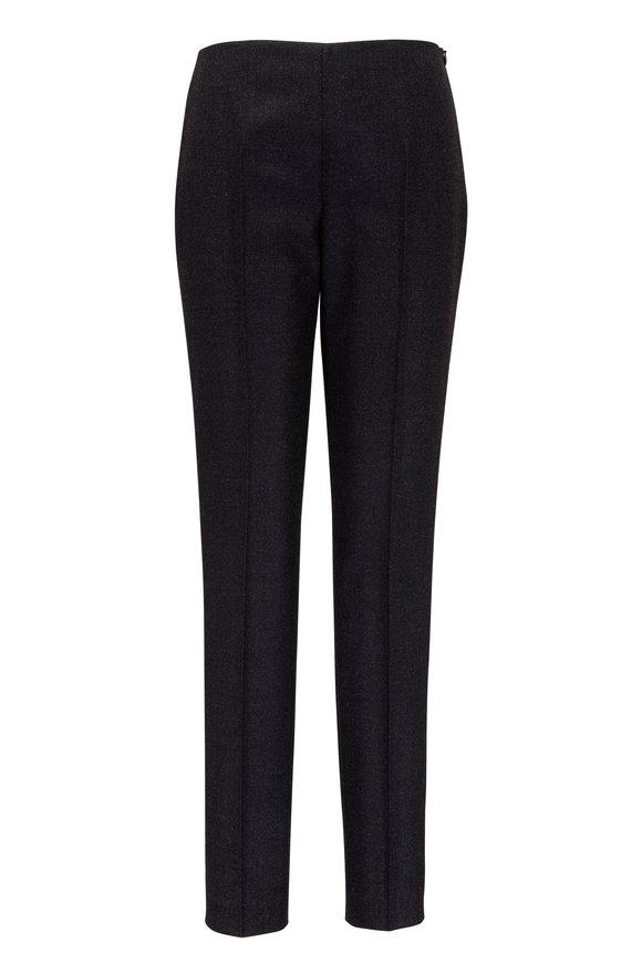 Akris Melissa Graphite Flannel Side Zip Pant