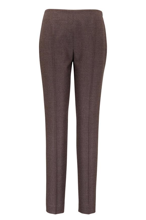 Akris Melissa Sepia Stretch Flannel Pant