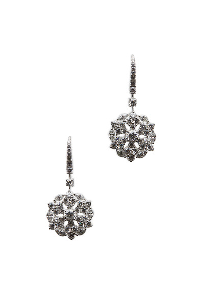 Graff - Platinum White Diamond Snowflake Earrings