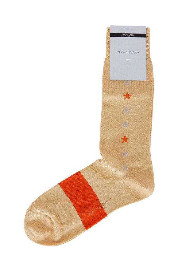 VKNagrani Yellow Star Pattern Socks