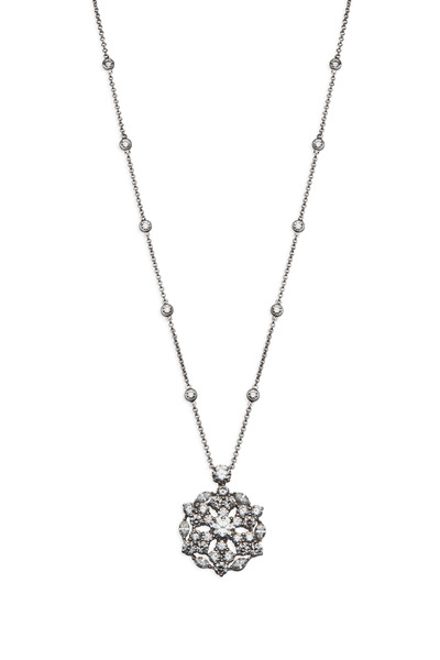 Graff - Platinum White Diamond Snowflake Necklace