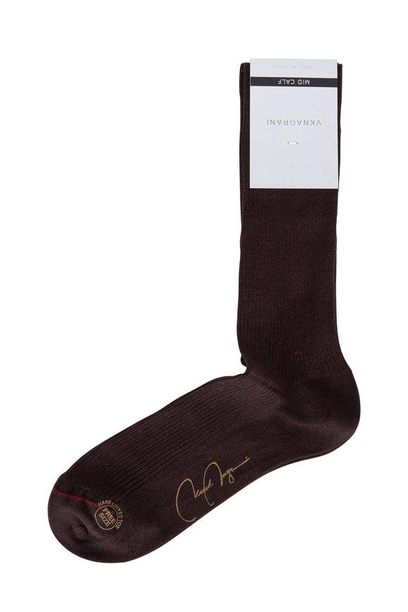 VKNagrani Brown Ribbed Socks