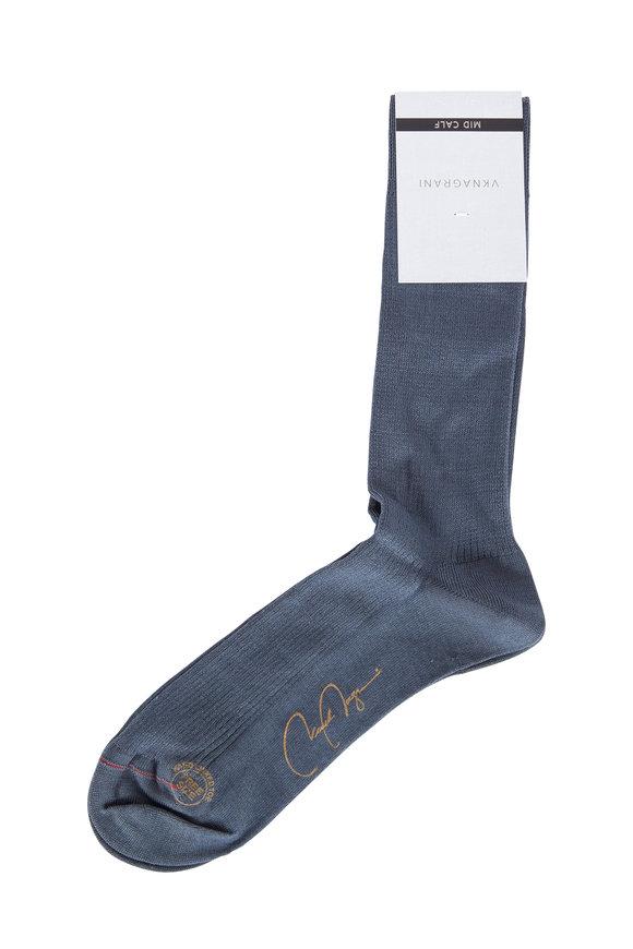 VKNagrani Gray Ribbed Socks