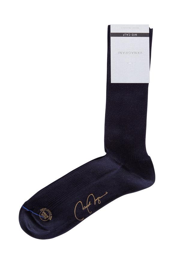 VKNagrani Navy Blue Ribbed Socks