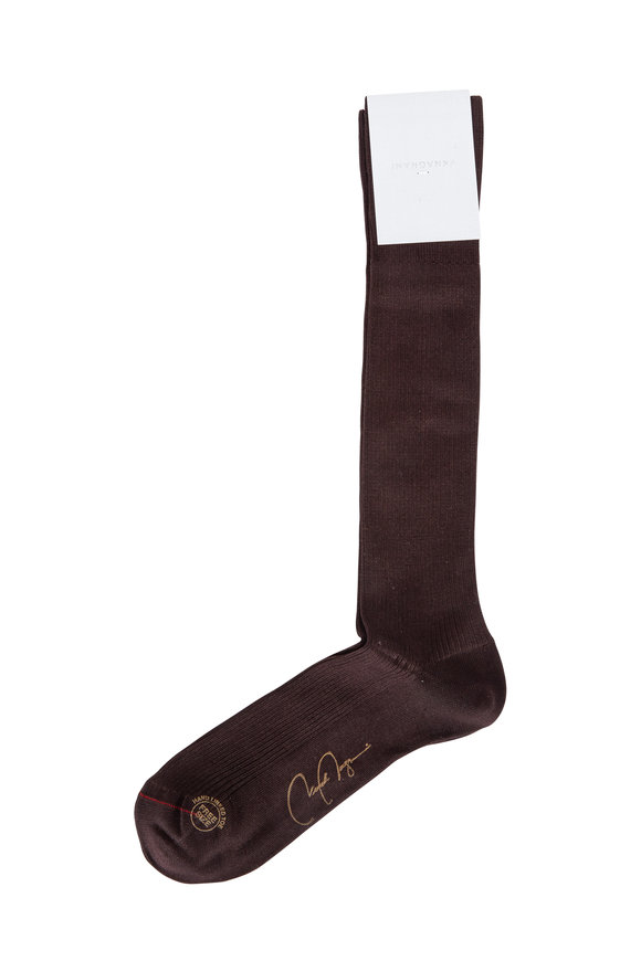 VKNagrani Brown Ribbed Dress Socks
