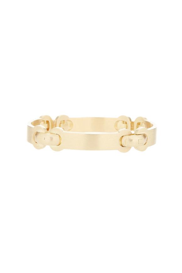 Caroline Ellen 18K Yellow Gold Four Link ID Bracelet