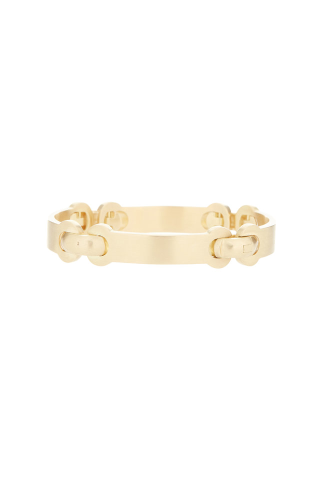 18K Yellow Gold Four Link ID Bracelet