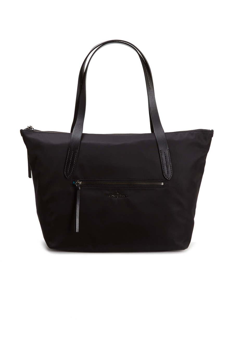 Parker Black Nylon Large Zip Tote