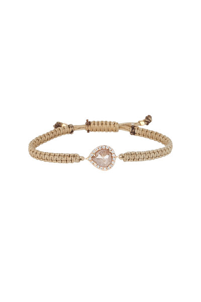 Kimberly McDonald - 18K Rose Gold Diamond Nude Macrame Bracelet