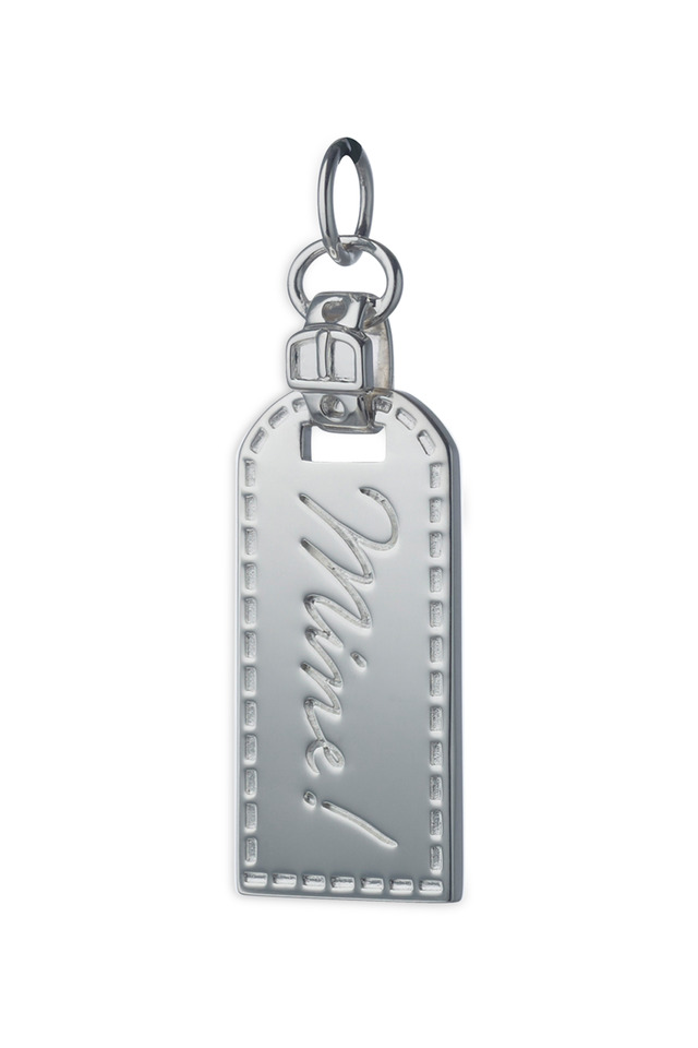 "Sterling Silver ""Mine!"" Luggage Tag Charm"