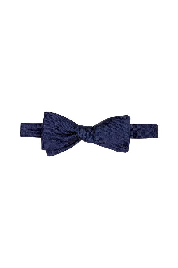 Dion Navy Silk Faille Bow Tie