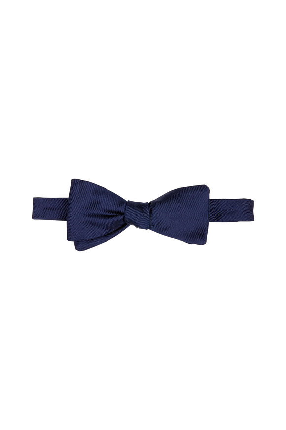 Dion Navy Silk Faille Bow Tie
