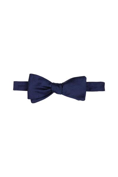 Dion - Navy Silk Faille Bow Tie
