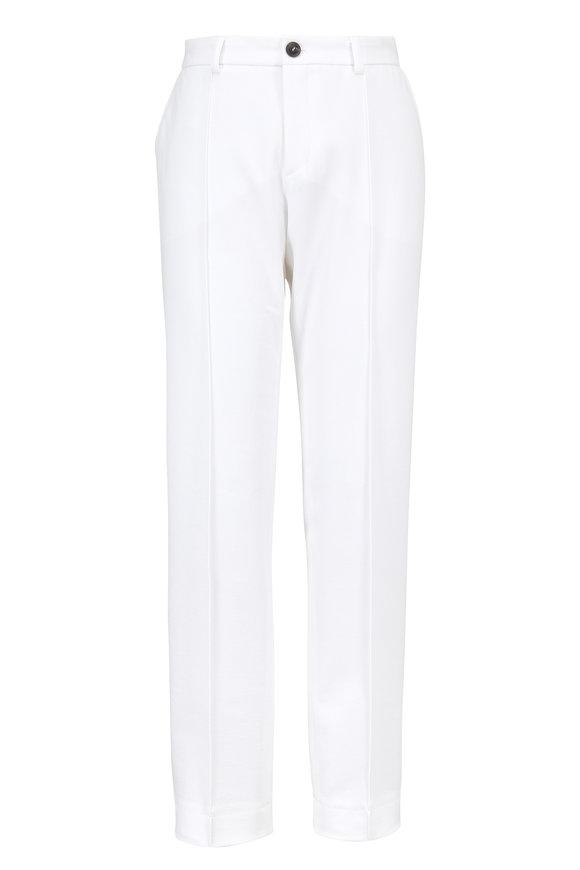 Bogner Abbie White Stretch Cotton Ankle Pant