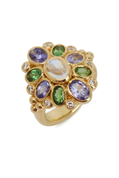 Temple St. Clair - Anima Yellow Gold Gemstone Cluster Ring