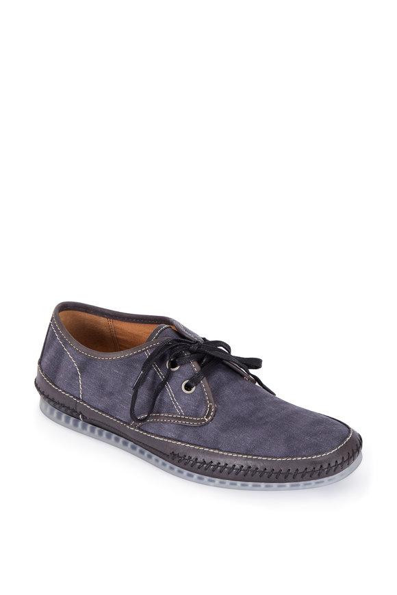John Varvatos Hester Capri Blue Canvas Lace-Up Shoe