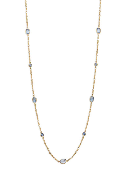 Temple St. Clair - Karina Yellow Gold Blue Sapphire Chain Necklace