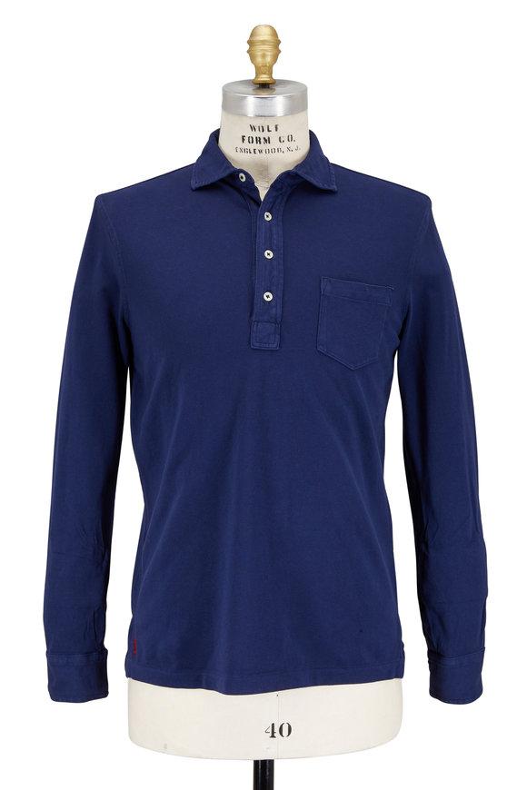 Polo Ralph Lauren Navy Blue Featherweight Mesh Long Sleeve Polo