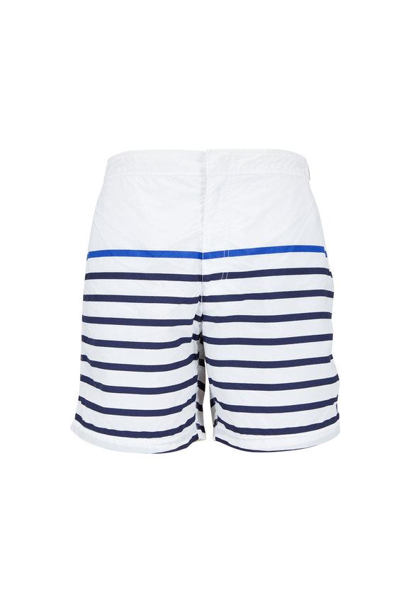 Polo Ralph Lauren Monaco White & Blue Stripe Swim Trunks