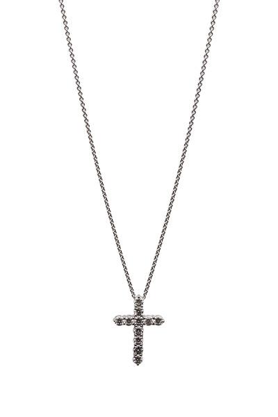 Graff - White Gold White Diamond Cross Pendant