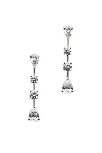 Graff - White Diamond Strand Dangle Earrings
