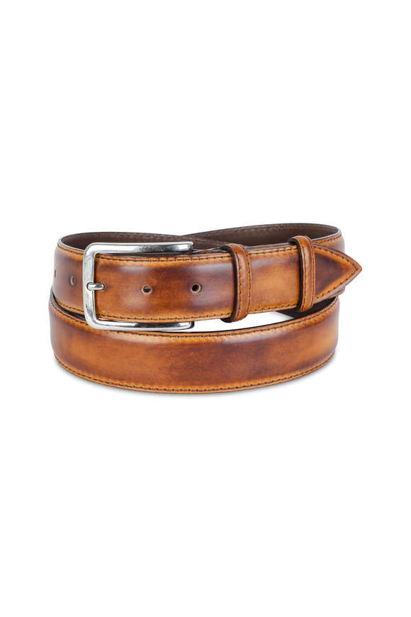 Bontoni Brown Leather Belt