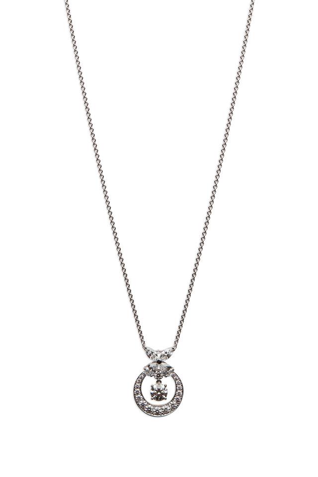 White Gold White Diamond Pendant