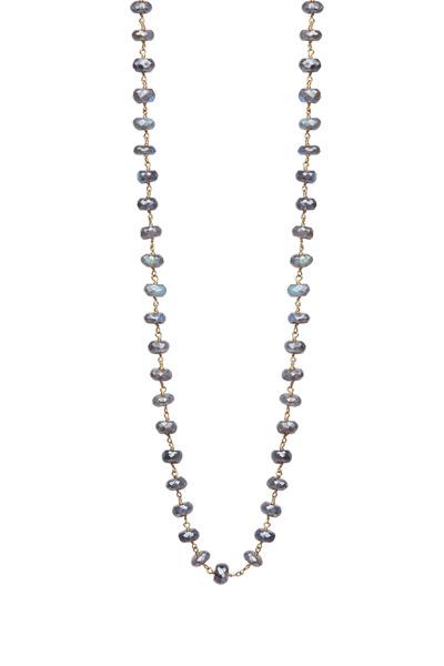 Emily & Ashley - Yellow Gold Labradorite Wrap Necklace