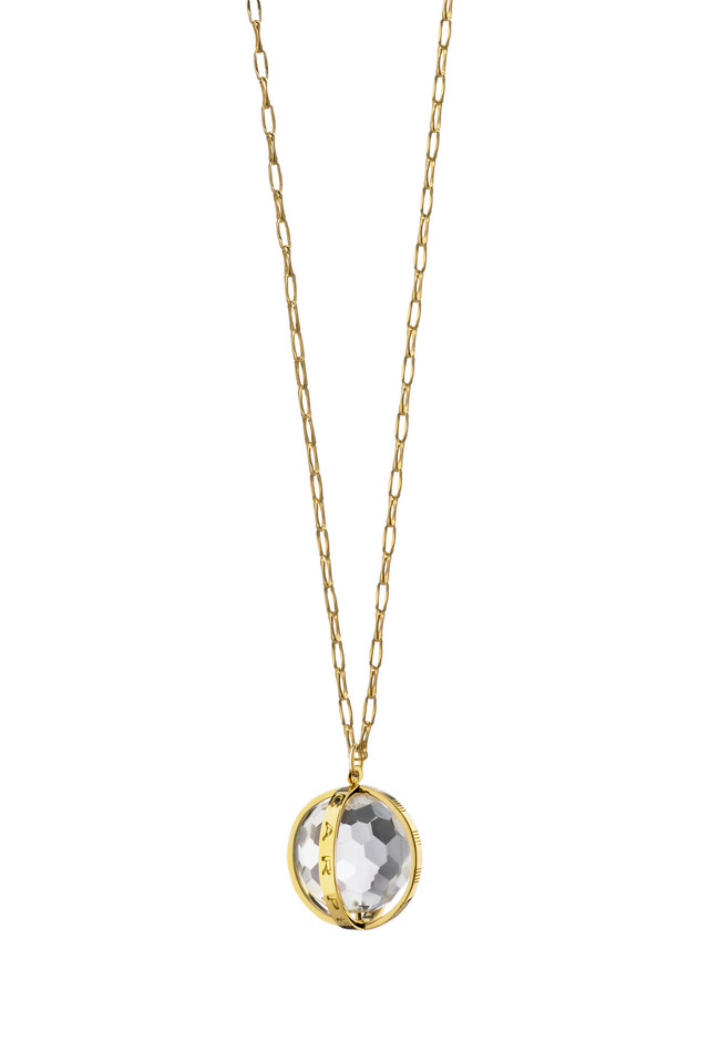18K Yellow Gold Carpe Diem Charm Necklace