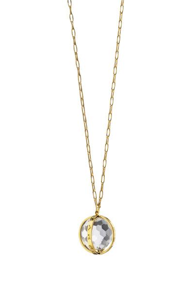 Monica Rich Kosann - 18K Yellow Gold Carpe Diem Charm Necklace
