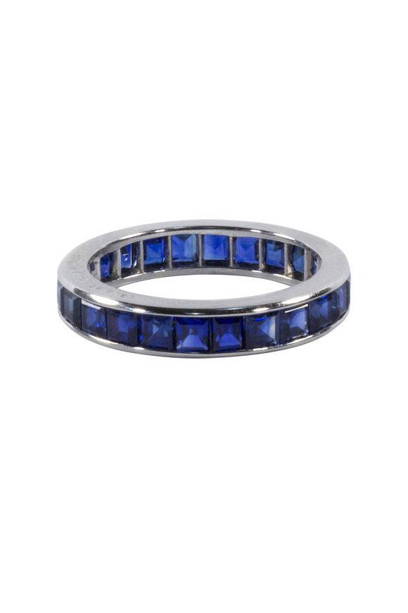 Oscar Heyman Platinum Sapphire Guard Ring